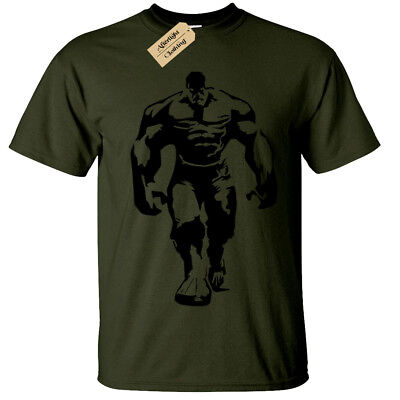 HULK MENS T SHIRT COOL GYM BODYBUILDING TRAINING TOP LIFTING FITNESS - Hulk Shirt