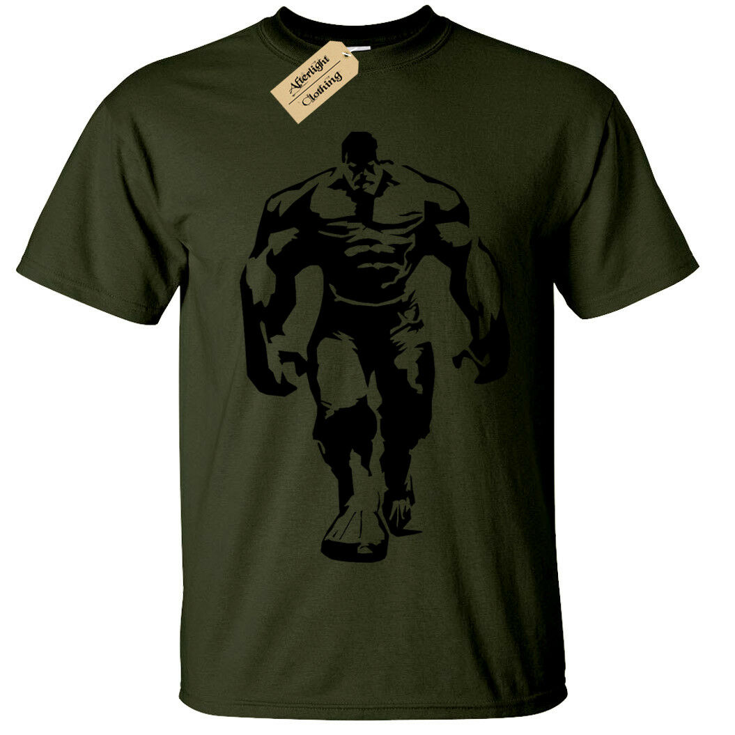 Hulk Herren T-Shirt Cool Fitnessstudio Bodybuilding Training Top Heben Fitness