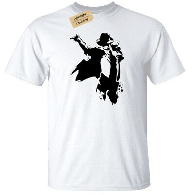 Kids Silhouette (Kids Boys Girls Michael Jackson Silhouette T-Shirt king of pop)