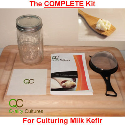 Kefir Starter (Complete Milk Kefir Culture Starter Kit w/ 1 Tsp Live Organic Kefir)