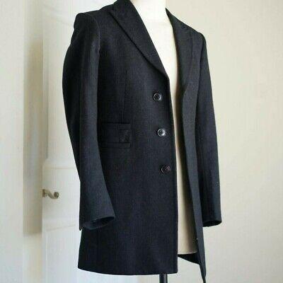 Uniqlo x Jil Sander +J Wool Black Chesterfield Coat Jacket