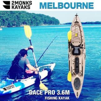 New Professional 3.6M Single Fishing Kayak with Rudder *2Monks*