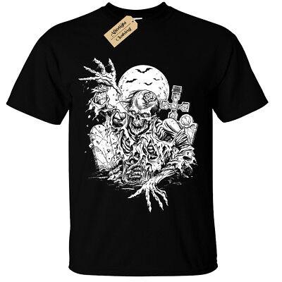 Kids boys girls Zombie T-Shirt SCREEN PRINTED mens halloween goth gothic bats](Gothic Boys)