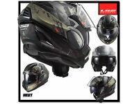 Schwarz//Titanium LS2 Motorradhelm FF900 VALIANT II GRIPPER MATT TITANIUM L