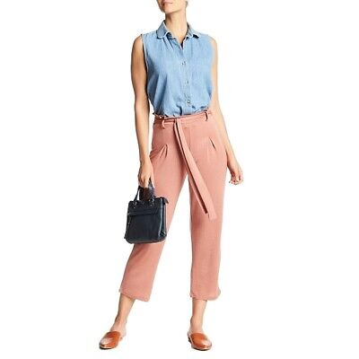 Hiatus NEW Pink Women's Size Small S Stretch Belted Pleated Pants $52 #943