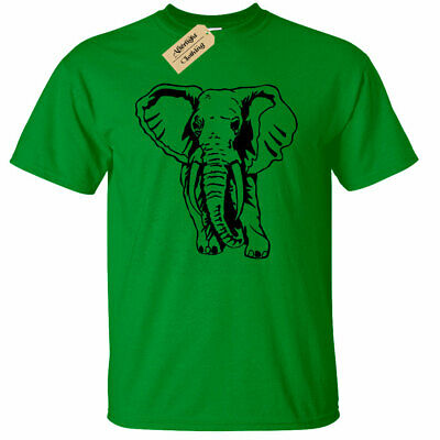 Kinder Jungen Mädchen Elefant T-Shirt Tier Grafik - Kind Shirt Elefant