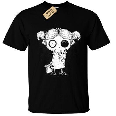 Zombie Mädchen Herren T-Shirt Gothic Rock Burton Halloween - Gruselige Undead