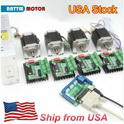 en Envío gratuito 3axis Nema 23 motor paso a paso de bucle cerrado Kits 4A 425oz /& Driver Cnc Kit