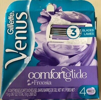 4 Gillette Venus Comfort glide Freesia Razor Blades Refill Cartridge fit - Gillette Venus Embrace Cartridge