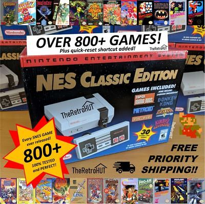 800+ NES Games Professionally Modded Nintendo Mini Classic Console Quick Reset!