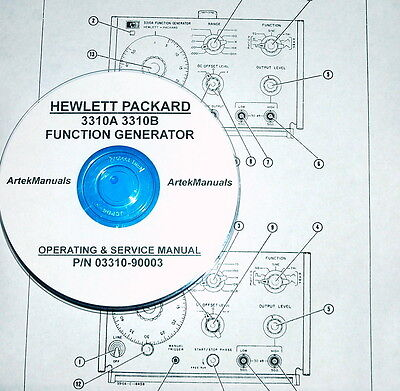 Hewlett Packard Operating Service Manual For 3310a 3310b Function Generators