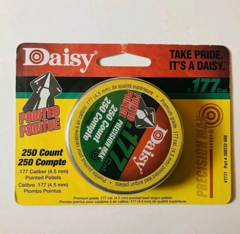 Daisy Pointed PRECISION MAX Pellets .177 Caliber Tin of 250 Count Airgun Ammo