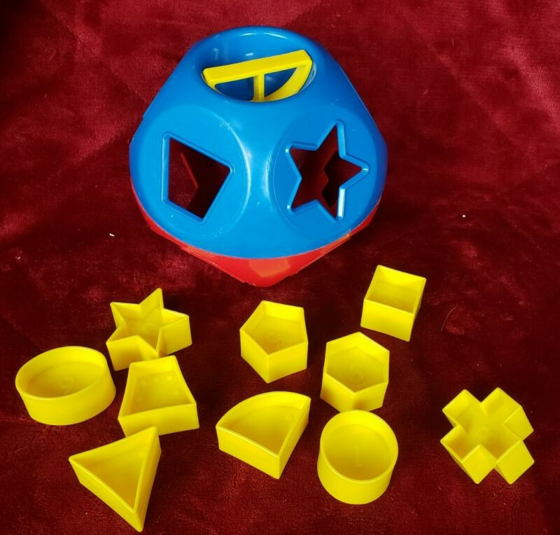Tupperware Tupper Toys Shape O Ball Shape Sorter Toy Red Blue 100% complete