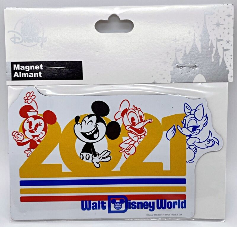 Disney Parks 2021 WDW Mickey Minnie Mouse Donald Daisy Duck Magnet