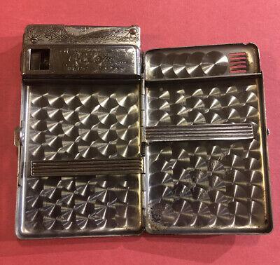 Vintage Atom Terra Japan Lighter Cigarette Case. Teamsters Local 122 Service