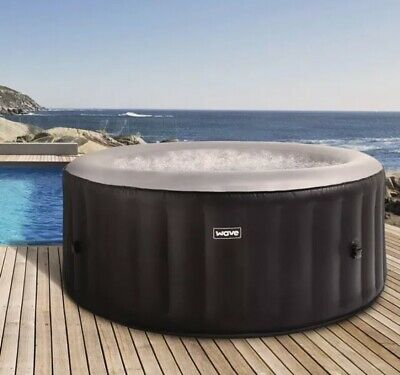 Wave Atlantic 4 Person Inflatable Hot Tub Black like Lay Z Spa Miami