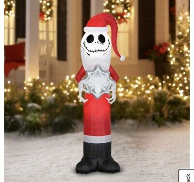 Nightmare Before Christmas Yard Jack Skellington Airblown Inflatable 5.5 ft Tall