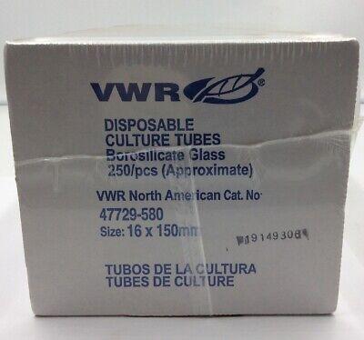 Vwr 47729-580 Disposable Culture Tubes 16 X 150mm 250pcs