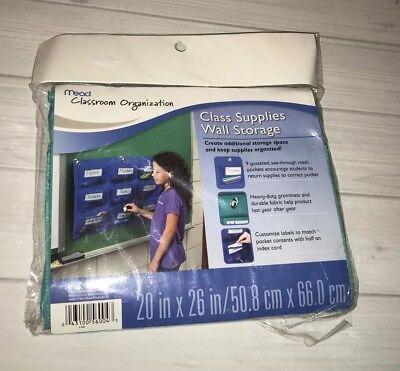 Mead Classroom Organization Class Supplies Wall Storage Holder Teal Teaching](Classroom Storage)