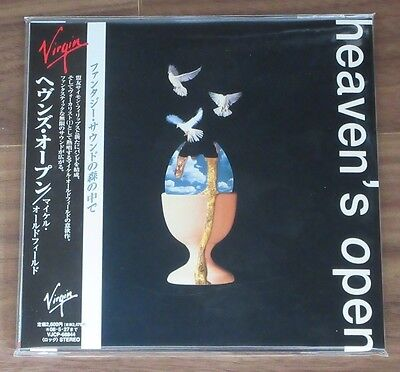 PROMO Mike Oldfield JAPAN card paper sleeve CD mini LP Heaven