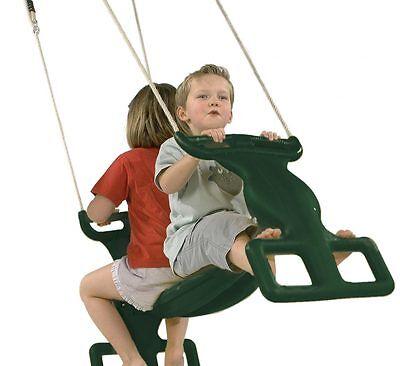 Childrens Double Garden Swing Rocket Rider Glider Duo Seat tandem butterfly seat
