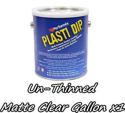 1 Gallon Matte Clear Unthinned Performix Plasti Dip Concentrate Full Strength