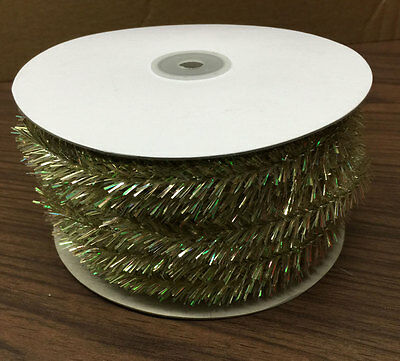Tinsel Wire - CHAMPAGNE -72ft -great color for Christmas & holiday decorating