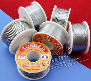 63-37-Tin-lead-Rosin-Core-0-5-2mm-2-Flux-Reel-Welding-line-11G-100G-Solder-Wire