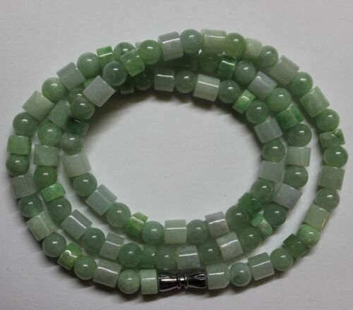 CERTIFIED Natural (A) Untreated Multi-Color Jadeite JADE Beaded Necklace #N220