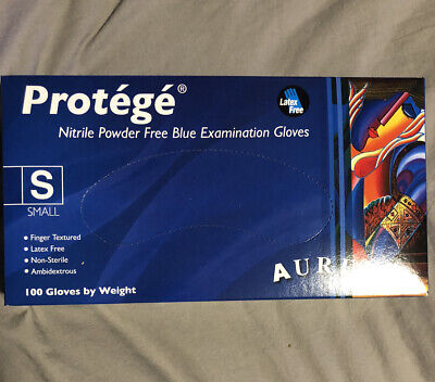 Aurelia Protege Small Blue Powder Free Latex Free Surgical Gloves 100ct