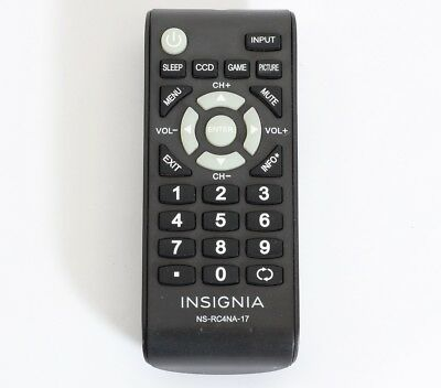 Genuine Original OEM Insignia HD TV remote control model NSRC4NA17
