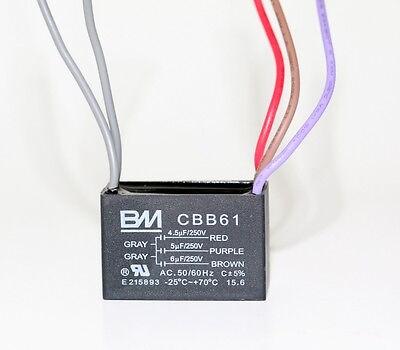 BM CEILING FAN CAPACITOR CBB61 4.5uf+5uf+6uf 5WIRE