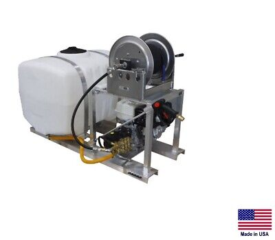 Pressure Washer Commercial - Skid Mounted - 4 Gpm - 4000 Psi - 100 Gallon Tank