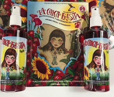 la chica fresita air freshener Pack of 3 (2 Bottles + 1 Paper)