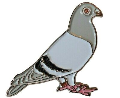 Racing Homing Carrier Pigeon Bird Pin Metal Enamel Badge Brooch 25mm NEW