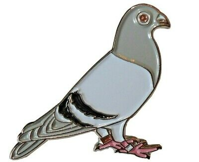 Racing Homing Carrier Pigeon Bird Pin Metal Enamel Badge Brooch 25mm NEW