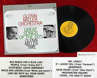 LP Glenn Miller Orchestra Ray McKinley: Great Songs of the 60´s (Epic BN 26157)