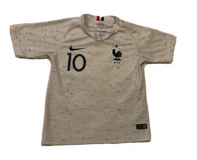 Kylian Mbappe France World Cup 2018 Away Soccer Jersey Size Boys L image