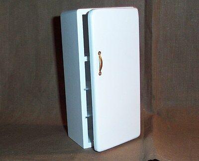 schmaler Kühlschrank - weiss - Miniatur 1:12 Puppenhaus
