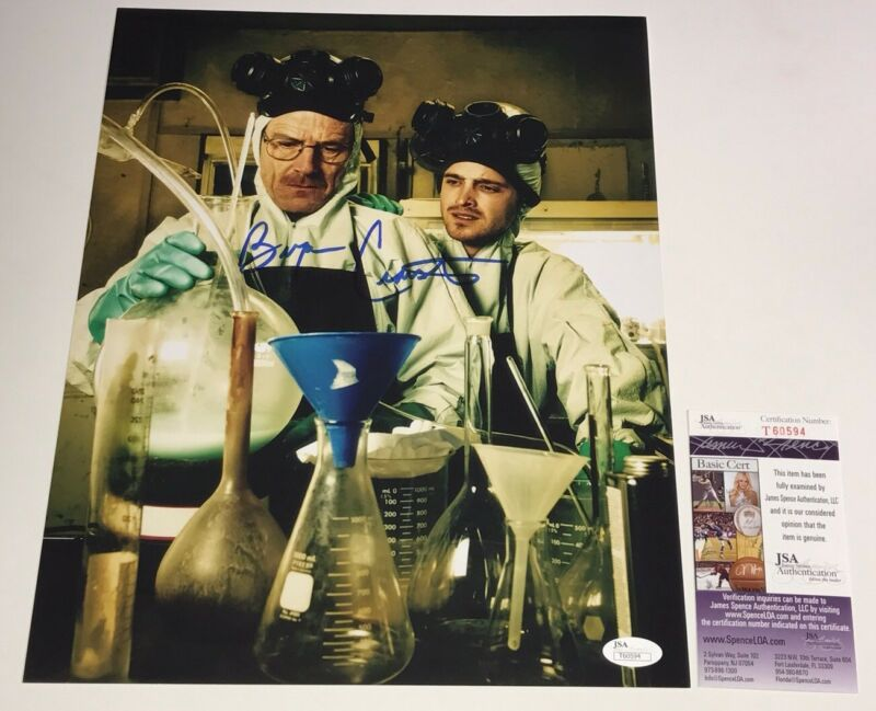 BRYAN CRANSTON Authentic Breaking Bad SIGNED 11x14 Photo IN PERSON JSA COA