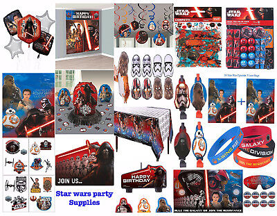 Star Wars Episode 7 Boys Birthday Party Supplies ~ Table cover Decoration Favors - Episode 7 Star Wars