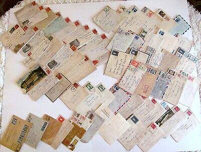 Vintage LOT of 61 1920-1960 handwritten Sanders Lynch Family letters EPHEMERA
