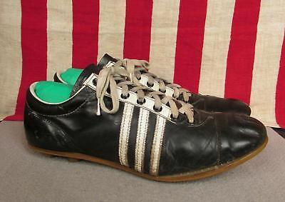 c6de45468 Vintage 1960s Spalding Black Leather Soccer Shoes Cleats Football Sz 10.5  Nice!