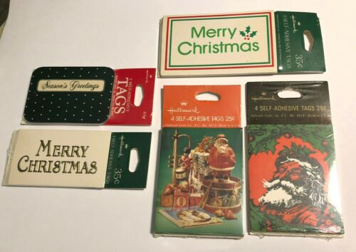 Vintage Hallmark Christmas Gift Tags New Old Stock 5 Packs Unopened - Lot 1