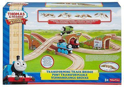 Thomas & Friends Train Engine Wooden Railway Transforming Track Bridge