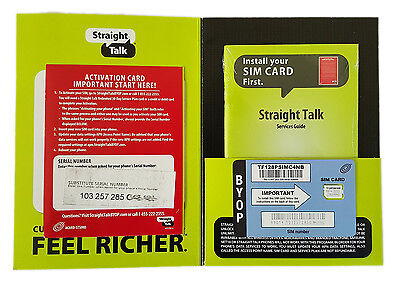 Straight Talk - AT&T Compatible Nano SIM Card for iPhone 5/5C/5S/6 - LTE + MMS