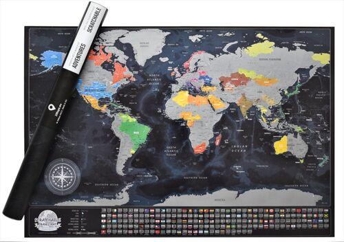 Detailed Scratch Travel Map. Plan Travel Scratch.