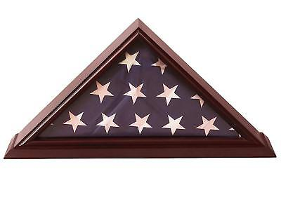 5x9 Flag Display Case Shadow Box (For Burial/Funeral/Veteran Flag) with Cherry](Flag Display Box)