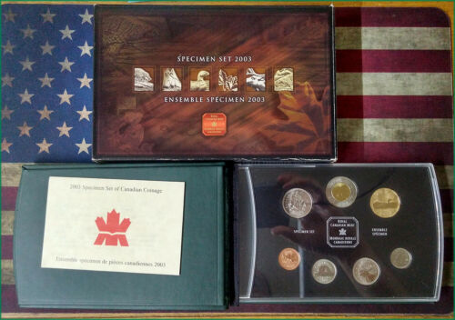 2003 Canada mint specimen set RCM coin 7 Coin set Royal Canadian Mint - BINo