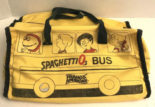 Vintage 1984 Campbell Soup Spaghettio's Bus Duffle Bag Carry All Franco American
